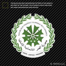 Comoran Seal Sticker Decal Self Adhesive Vinyl Comoros flag COM KM