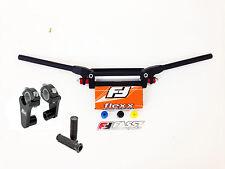 """Fasst Flexx Flex 15 Quad Handlebars Bars Orange Pad + Rox 2"""" Riser Grips Fast"""