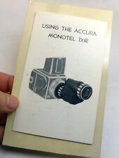 Con Acura Monotel 7X40 Telescopio Manual Instrucciones Guía (en ) Inglés