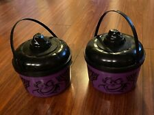 McDonald's 1993 Purple Cat Halloween Happy Meal Bucket Pail Set 2 Cookie Cutters