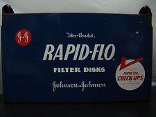 Vintage Johnson & Johnson RAPID-FLO MILK FILTER DISPENSER CONTAINER Cows Farming