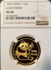 1982 CHINA 1/2 OZ GOLD PANDA NGC MS 68 KEY DATE SCARCE COIN