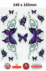 PAPILLONS VIOLET Voiture Moto Scooter Stickers Autocollant O016