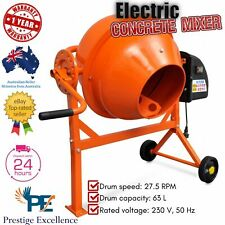 Electric Concrete Cement Mixer Portable Sand Gravel Mortar Plaster Construction