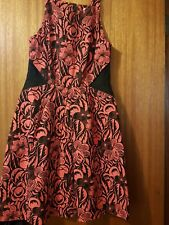 Veronika maine Size 14 Ladies  Orange & Black Dress
