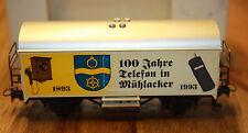 "( H 3 ) MÄRKLIN WAGEN "" 100 ANS TÉLÉPHONE MÜHLACKER 1993 "" EN PARFAITE CONDITION"