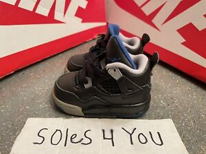 Nike Air Jordan 4 Retro MotorSports Blue Black Cement Grey TD Size 4c