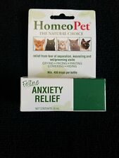Homeo Pet Homeopathic Anxiety Relief Fast Acting Liquid for Cats 15ml New Seale