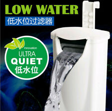 Aquarium tank low water level small filter hang on and suction cup two use