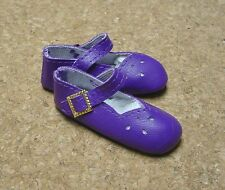 "Doll Shoes, SLIM*  58mm DK PURPLE Girl Dressy - fits 14"" Kish"