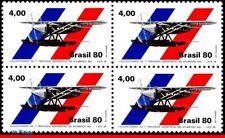 1700 BRAZIL 1980 SOUTH ATLANTIC CROSSING, 1st FLIGHT, AVIATION, MI# 1768-69, MNH