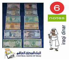 6 Notes, Iraqi Dinar;  10000x1, 5000x1, 1000x1, 500x1, 250x1 & 50x1; -Get Some!-