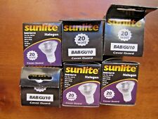 Halogon Bulbs, 120v, 2o watt Bayonet mount recessed spotlights, lot of 6, New