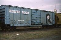 ROUTE ROCK Railroad Train BM Boxcar Mechanicville NY Original 1984 Photo Slide