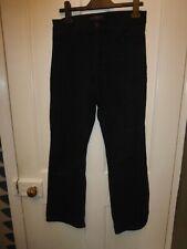 NYDJ UK 12P BLACK COTTON/ELASTANE BOOTCUT LEG  JEANS