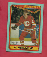 RARE 1990-91 OPC # H FLAMES AL MACINNIS  BOX BOTTOM  CARD
