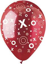 "10 pc - 11"" Red XOXO Latex Balloon Party Decoration Decorator Wedding Love Hugs"