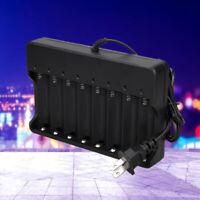 8 slots Smart Charger 47-63HZ 18650 Li-ion Battery Black 4.2V 2400mA AC100~240V
