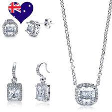 Mademoiselle Decó WG Rhodium Plated Cubic Zirconia trio Bridal Set Jewellery