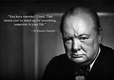 WINSTON CHURCHILL SOURCE D'INSPIRATION/CITATION DE MOTIVATION AFFICHE