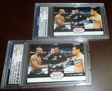 Lyoto Machida Signed UFC 2011 Topps Moment of Truth Insert Card #SS-LM PSA/DNA