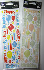 NEW BIRTHDAY RAIN DOTS * Your Choice Color *   CLOUD 9 DESIGN 3D Sticker