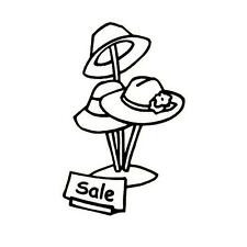 HAT SALE unmounted rubber stamp, Red Hat Society, ladies fashion #5