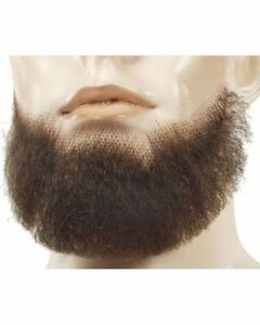 5-POINT 5 POINTS CHIN GOATEE BEARD BLACK BROWN GREY TOUPEE TAPE COSTUME BEARD