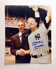 Joe DiMaggio / Mickey Mantle Signed Autographed 8x10 Photo AMAZING!