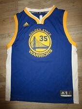 Kevin Durant #35 Dorado Estado Warriors NBA Adidas Camiseta Youth L 14-16 Niños