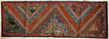 Embroidered Sequin Tapestry Wall Hanging Table Bed Runner 145x50cm Recycled Sari