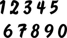 Aufkleber Sticker Tattoo - Zahl/ Ziffer in 6 cm Höhe glänzende Folie-Artikel 827
