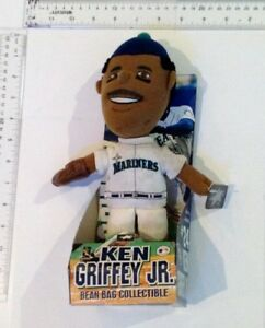 """Vintage 1990s Ken Griffey Jr Seattle Mariners 11"""" Plush Doll With Tags"""