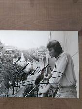 Rare Photo de  johnny Hallyday avec son autographe ( photo de Patrick Bertrand )