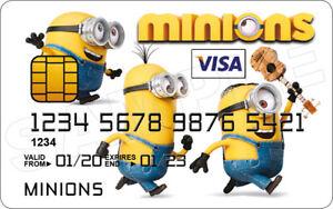 Minions Novelty Plastic Credit Card