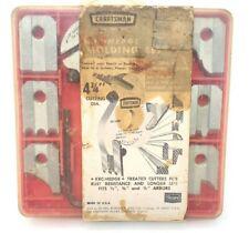 Vintage Craftsman 9-3221 Kromedge Molding Cutter Set w/ 6 Blade Sets, 3 to a Set