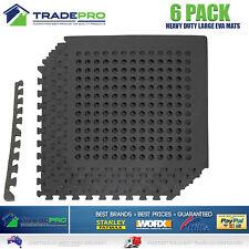6PC Floor Mat Tiles EVA H/Duty Rubber Foam Interlocking Fatigue Shock Absorb Gym