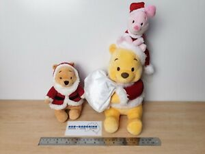 Winnie The Pooh Christmas Plush soft toys Santa costume piglet Disney
