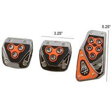 ALPENA Orange Manual Transmission M/T Brake Gas Pedal Pads for Car Truck SUV
