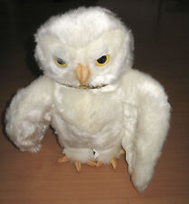 "Harry Potter Hedwig Owl White 12"" Plush Stuffed Toy 2001 Warner Bros"
