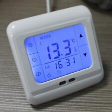 Electric Heating Thermostat 16A, Air Under floor with Sensor Blue Backlight