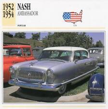 1952-1954 NASH AMBASSADOR Classic Car Photograph / Information Maxi Card