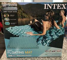 "Pool Swim Float Raft Giant Inflatable 114x84"" Lounge Water Mat Folding New"