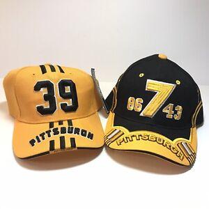 Pittsburgh Steelers Hat Cap NFL Steel City Nation Football Big Ben 7 Lot Of 2