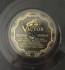 """78 RPM 10"""" EDDY DUCHIN VOCALIST JERRY COOPER THE WHISTLING BOY/OUR SONG VICTOR"""