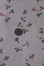 Antique French 18thC Hand Painted Water Color Floral Design For Textile Printing
