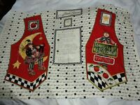 Alma Lynne Designs Halloween trick or treat Vest Fabric Panel Misses ONE SIZE