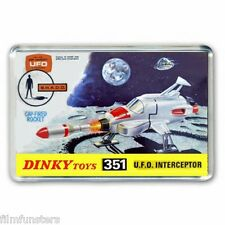 RETRO TV NOSTALGIA -  UFO INTERCEPTER DINKY TOYS ADVERT - JUMBO FRIDGE MAGNET