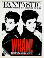 GEORGE MICHAEL / WHAM - music magazine advert for the 1983 album : FANTASTIC