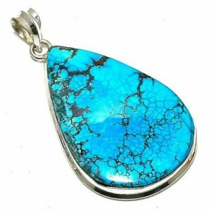 "Tibetan Turquoise Gemstone Handmade  Jewelry Pendant 2.3"" st-131"